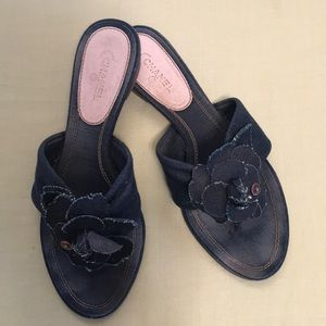 Chanel sandals Denim size 40 1/2